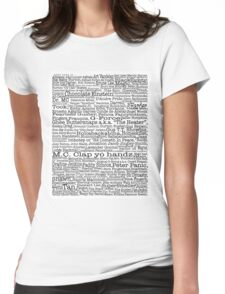 Psych tv show poster, nicknames, Burton Guster Womens Fitted T-Shirt