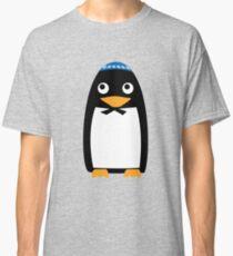Happy Hanukkah Jewish Penguin Yarmulke Classic T-Shirt