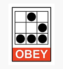 Obey Hacker Photographic Print