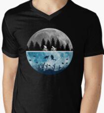 Close Encounters of the Moon Men's V-Neck T-Shirt