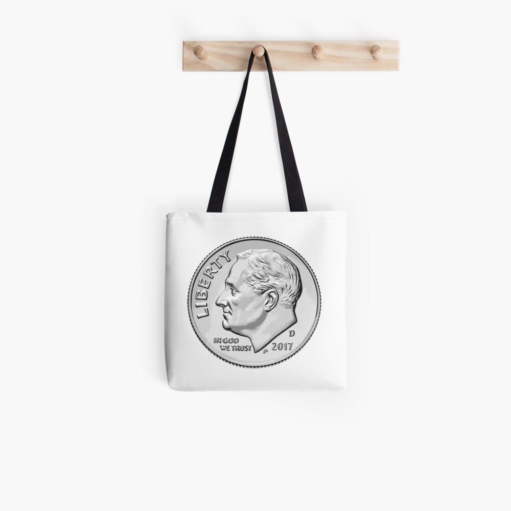 Roswell's face on the dollar Tote Bag