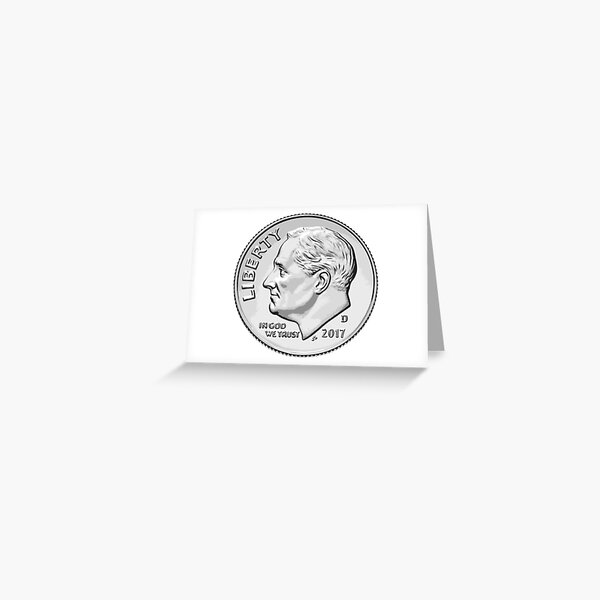Roswell's face on the dollar Greeting Card