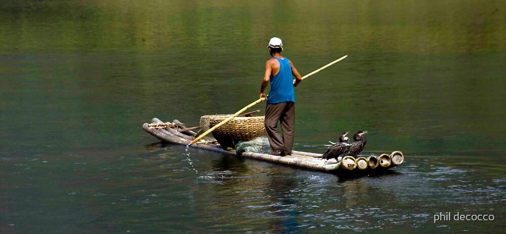 Cormorant Fisherman by phil decocco