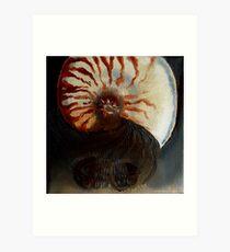 Ammonite Vs. Trilobite Art Print