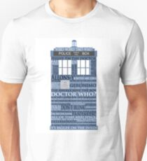 Dr. Who Whovian fans T-Shirt