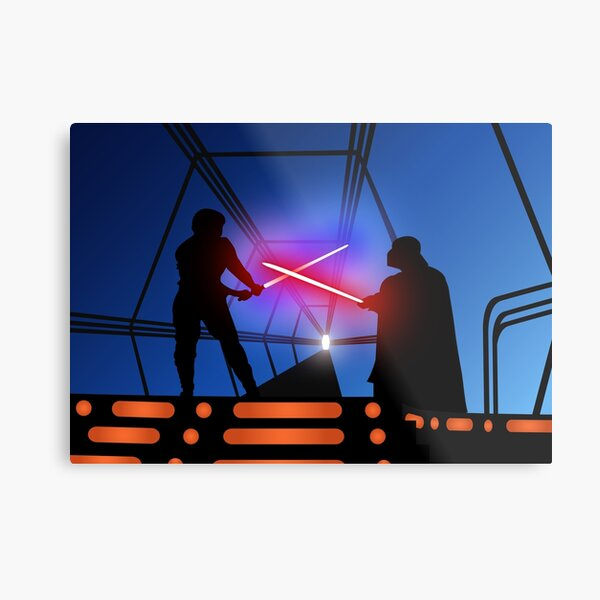 Luke vs Vader on Bespin Metal Print