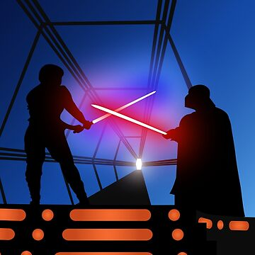 Luke vs Vader on Bespin by UnoWho21