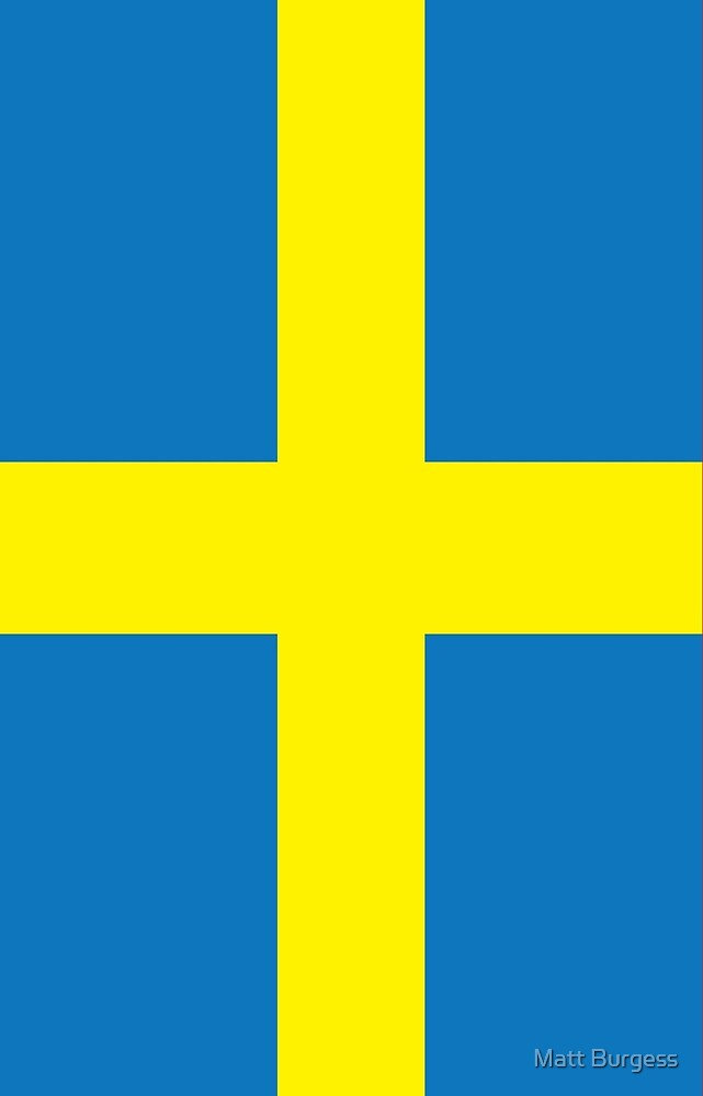 Sweden Flag Pattern by Matt Burgess