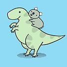 Koala with Tyrannosaurus Rex  by zoel