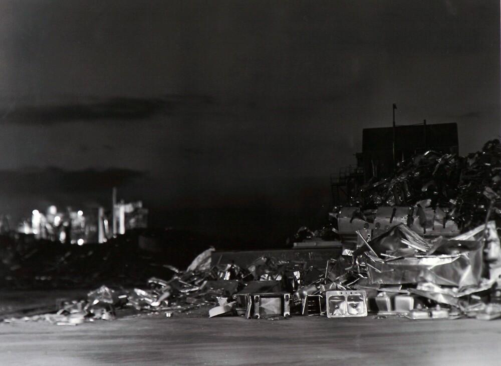 Junk Yard at Night by LydBecker05