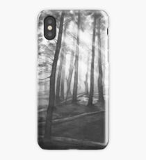 Dark forest - realistic pencil drawing iPhone Case/Skin