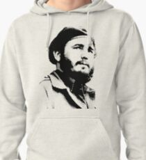 Young Fidel Castro with a Dreamy Look and Beret Pullover Hoodie