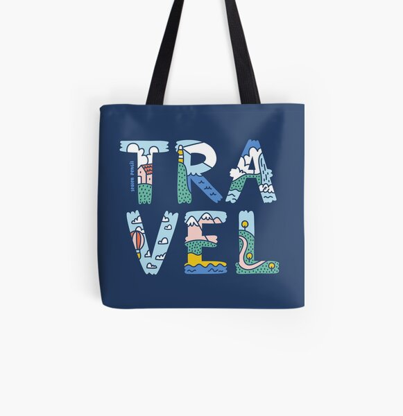 Travel All Over Print Tote Bag