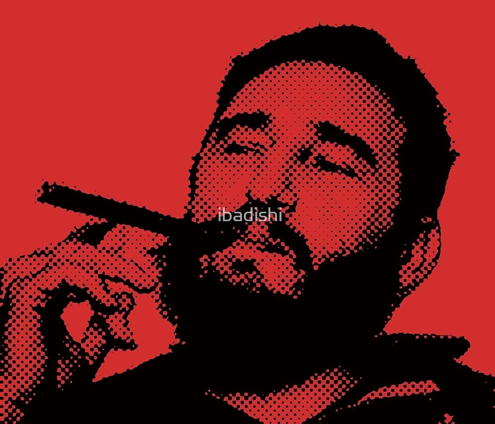Young Fidel Castro Smoking Cigar by ibadishi
