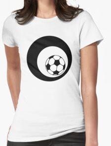 futbol : retro circles Womens Fitted T-Shirt
