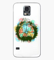Montaña y brújula Funda/vinilo para Samsung Galaxy