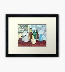 College Beverage Still Life Framed Print