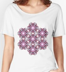pink psychedelic geometric design Women's Relaxed Fit T-Shirt