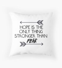 The hunger games quote design Throw Pillow