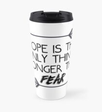 The hunger games quote design Travel Mug