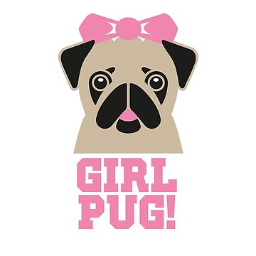 Pug Girl by wiscan