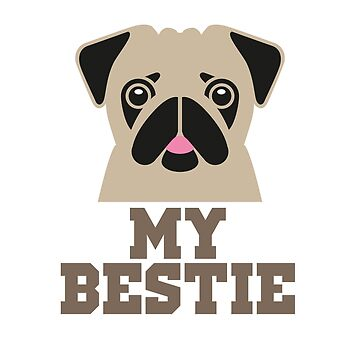 Pug - My Bestie by wiscan
