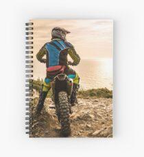 Enduro bike rider Spiral Notebook