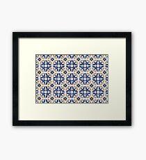 Portuguese glazed tiles Framed Print