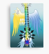 Fusion Keyblade Guitar #112 - Two Become One & Oathkeeper Canvas Print