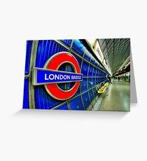 London Bridge Greeting Card