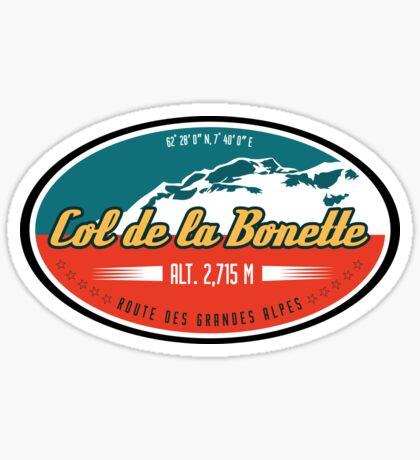 Route des Grandes Alpes France Motorcycle T-Shirt Sticker - Col de Bonette Sticker