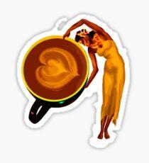 Dancing latte Sticker