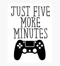 Just Five More Minutes - PS Photographic Print