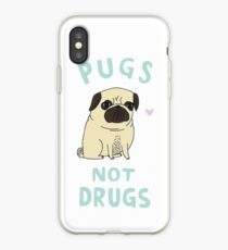 Pugs not drugs iPhone Case