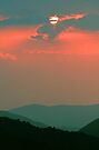 SUNSET, GREAT SMOKY MOUNTAINS NP by Chuck Wickham