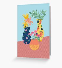 Vases on the Kitchen Table Greeting Card