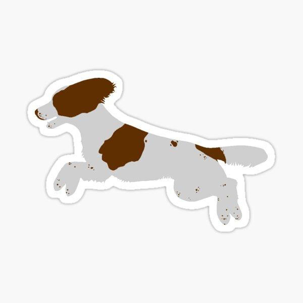 English Springer Spaniel (Working Type - Liver) Jumping Sticker