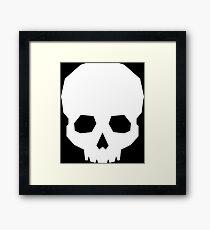 Polygonal Skull (White) Framed Print