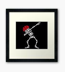 Dab dabbing skeleton bicycle mountainbike biker Framed Print
