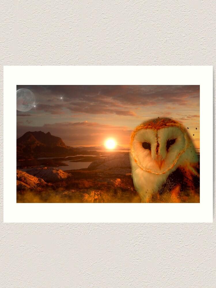 Alternate view of owls soul Art Print