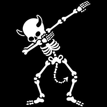 Dab dabbing skeleton devil by LaundryFactory