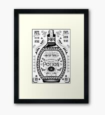 Legend of Zelda Red Potion Geek Line Artly Framed Print