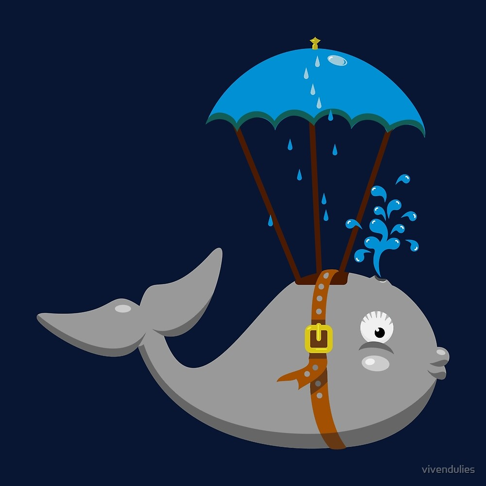 Sky Diving Whale VRS2 by vivendulies