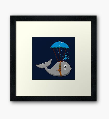 Sky Diving Whale VRS2 Framed Print