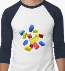 Falling Toy Bricks Men's Baseball ¾ T-Shirt