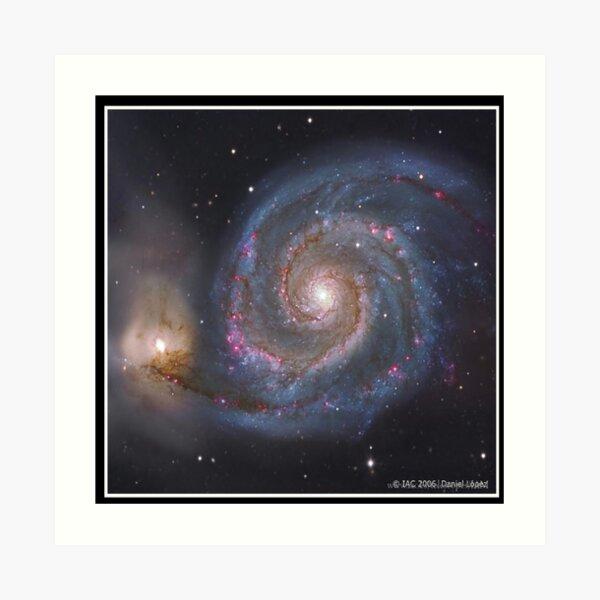 The #Whirlpool #Galaxy #SpiralGalaxy, Astronomy, Cosmology, AstroPhysics, Universe Art Print