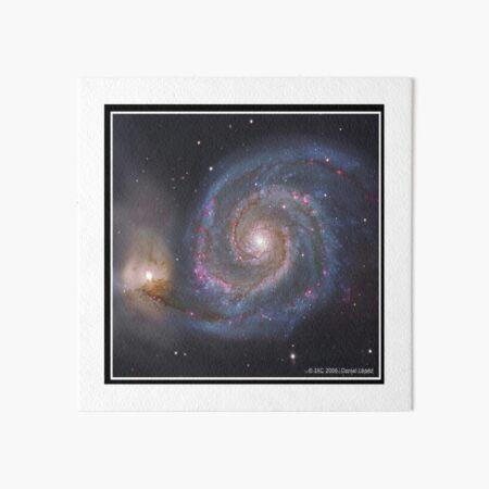 The #Whirlpool #Galaxy #SpiralGalaxy, Astronomy, Cosmology, AstroPhysics, Universe Art Board Print