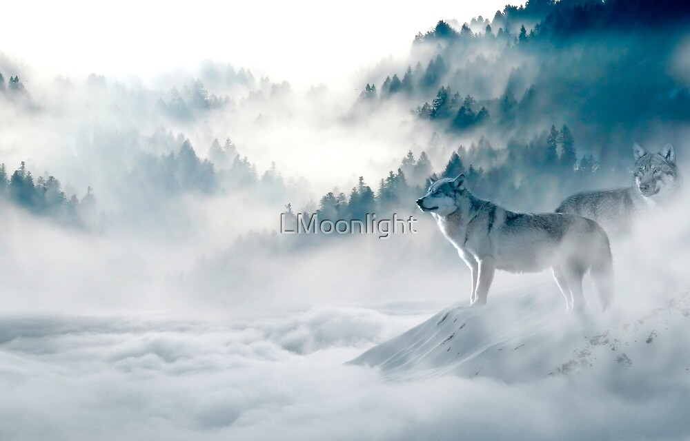 Wolves in the fog by LMoonlight