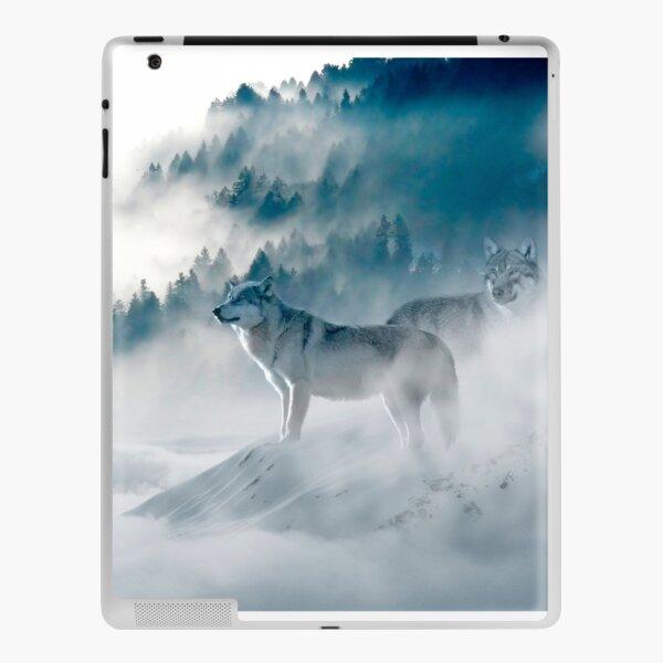 Wölfe im Nebel iPad Klebefolie