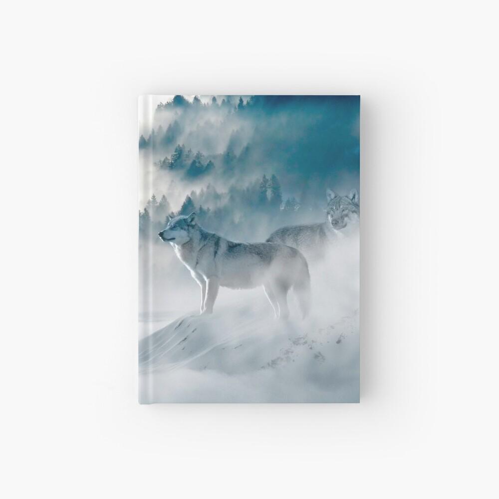 Wölfe im Nebel Notizbuch